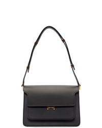 Marni Black Smooth Medium Trunk Bag