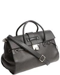 Jimmy Choo Black Studded Leather Rosalie Convertible Satchel