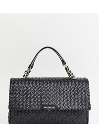 Valentino by Mario Valentino Black Woven Chain Shoulder Bag
