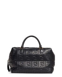 Fendi Boston Lambskin Leather Satchel