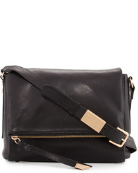 Foley + Corinna Charli Leather Messenger Bag Black