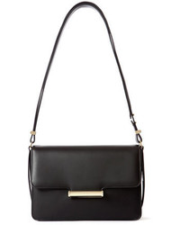 Jason Wu Diane Leather Small Flap Shoulder Bag Black