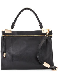 Foley + Corinna Dione Leather Messenger Bag Black