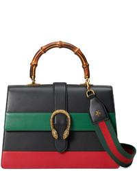 Gucci Dionysus Striped Bamboo Top Handle Bag