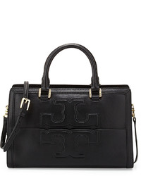Tory Burch Jessica Leather Satchel Bag Black