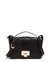 Jimmy Choo Rebel Leather Crossbody Bag Black