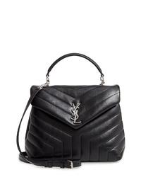 Saint Laurent Loulou Leather Satchel