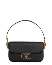 Prada Lux Saffiano Leather Baguette Bag