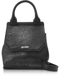 McQ by Alexander McQueen Mcq Alexander Mcqueen Mini Ruin Black Pebbled Leather Top Handle Bag