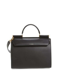 Dolce & Gabbana Medium Miss Sicily Calfskin Leather Satchel