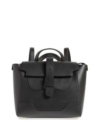 Senreve Medium Mstra Pebbled Leather Convertible Satchel