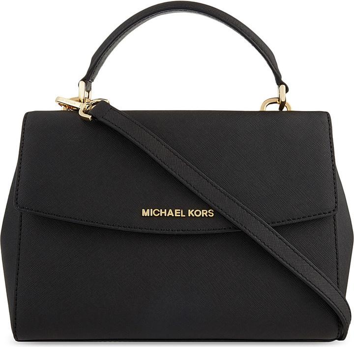 16b07c46a5aa ... coupon code for black leather satchel bags michael michael kors michl  michl kors ava small saffiano