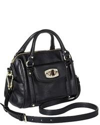 Merona Mini Satchel Faux Leather Handbag With Removable Crossbody Strap