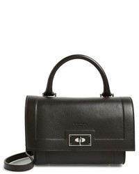 Givenchy Mini Shark Tooth Leather Satchel Black