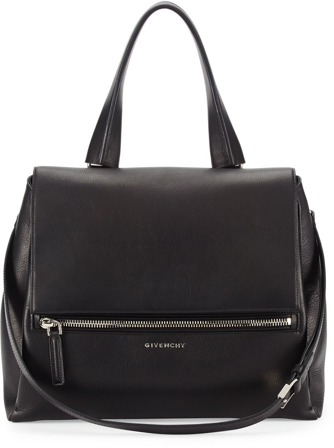 ae90c66e20 Givenchy Pandora Pure Medium Leather Satchel Bag Black, $2,475 ...