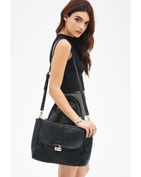 Forever 21 Pebbled Faux Leather Satchel