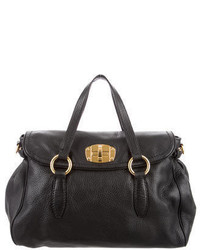 Miu Miu Pebbled Leather Satchel