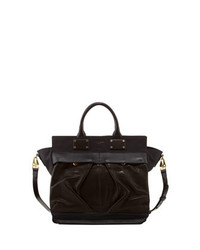 Rag & Bone Pilot Large Leather Satchel Bag Black
