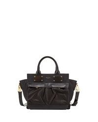 Rag & Bone Pilot Small Leather Satchel Bag Black