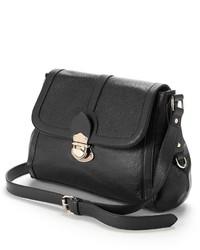 Rr Leather Flap Front Leather Shoulder Bag