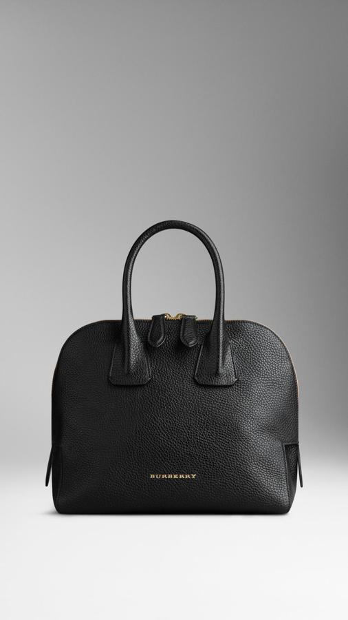 ded48877de93 ... Burberry Small Grainy Leather Bowling Bag ...