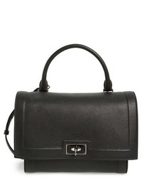 Givenchy Small Shark Tooth Calfskin Leather Satchel Black