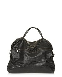 Topshop Faux Leather Satchel Black