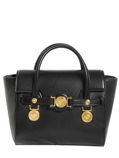 5949c10297 ... Versace Signature Leather Top Handle Bag ...
