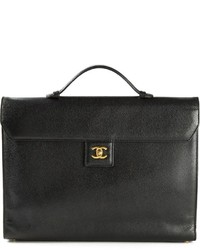 Chanel Vintage Logo Plaque Briefcase