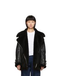 Acne Studios Black Shearling Velocite Jacket