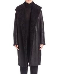 Vince Reefer Leather Shearling Jacket