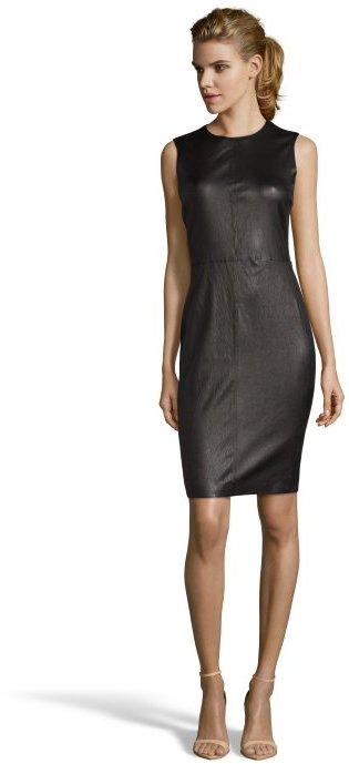 Vince Black Leather Sleeveless Sheath Dress 1250 Bluefly