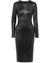 Tom Ford Croc Effect Lacquered Jersey Dress