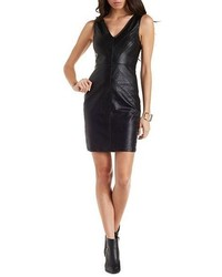 Charlotte Russe Essue Sleeveless Faux Leather Dress