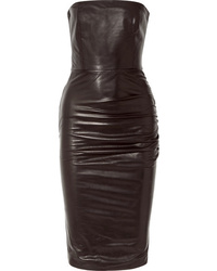 Tom Ford Less Ruched Leather Dress