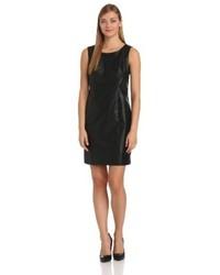 Amy Byer Agb Faux Leather Slim Sheath Dress