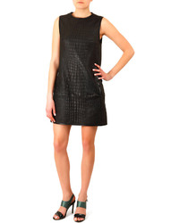 Acne Studios Crocodile Embossed Leather Dress
