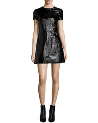 MICHAEL Michael Kors Michl Michl Kors Short Sleeve Patent Leather Dress
