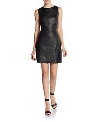 Nikki Leather Sheath Dress