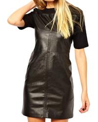 ChicNova Pu Splice Slim Fit Dress