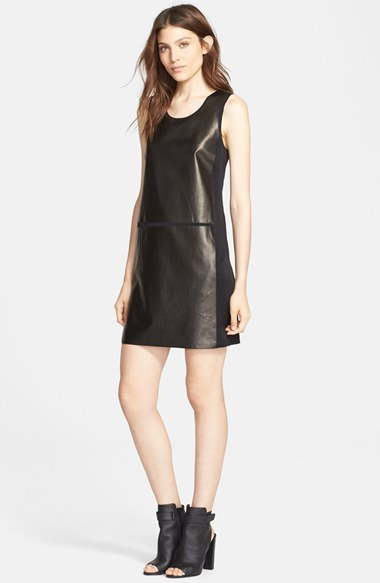 5037ce5f6bd Vince Sleeveless Leather Panel Dress, $695 | Nordstrom | Lookastic.com