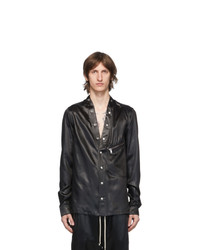 Rick Owens Black Larry Shirt Jacket