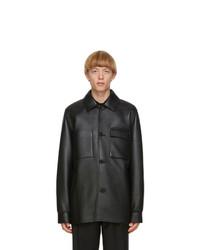 Acne Studios Black Leather Chore Jacket