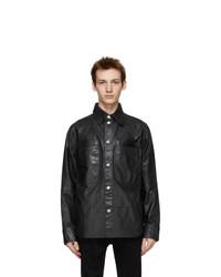 Diesel Black Leather L Brown Jacket
