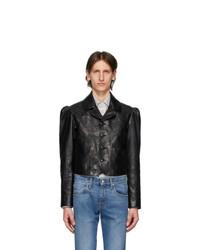 Gucci Black Shiny Leather Jacket