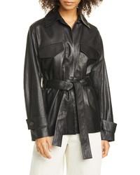 Vince Leather Safari Jacket