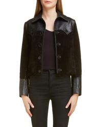 Saint Laurent Western Mixed Leather Jacket