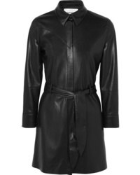 Black Leather Shirtdress
