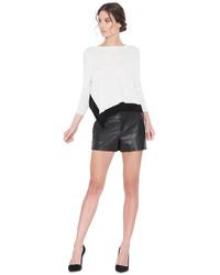Alice + Olivia Cady Leather Short