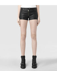 AllSaints Belle Leather Shorts